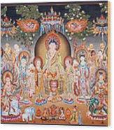 Buddha Art Thangka Wood Print