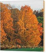 Thank And Praise Wood Print