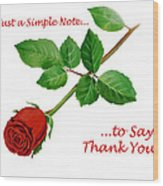 Thank You Card   Wood Print