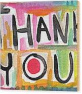 Thank You Card- Watercolor Greeting Card Wood Print