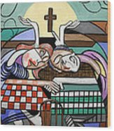 Thank You Jesus When Two Or More Are Gathered Wood Print by Anthony Falbo
