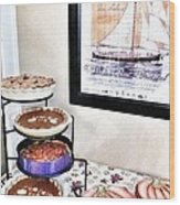 Thanksgiving Pies Wood Print