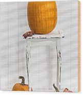 Thanksgiving Pumpkin Display Wood Print
