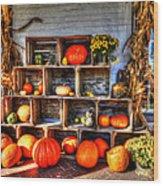 Thanksgiving Pumpkin Display No. 1 Wood Print