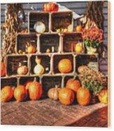 Thanksgiving Pumpkin Display No. 2 Wood Print