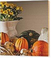 Thanksgiving Still Life Wood Print