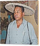 Tharu Chitwan National Park Naturalist In Tharu Village In Nepal  Wood Print