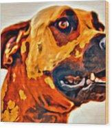 That Doggone Face Wood Print