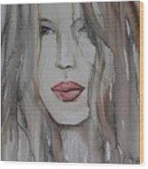 That Lips Wood Print