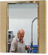That Man In The Window Again Wood Print