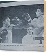 That Me Fighting Erving Nard In 1954 Wood Print