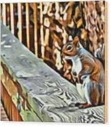 That Squirrel Wood Print