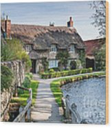 Thatched Cottage Thornton Le Dale Wood Print