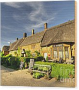 Thatched Cottages At Great Tew  Wood Print