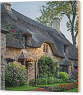 Thatched Roof - Cotswolds Wood Print