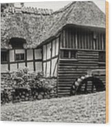 Thatched Watermill 3  Wood Print