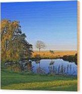 Thatcher Pond Wood Print