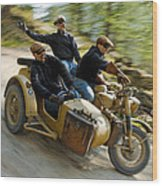 That's The Way To Ride An Army Bmw R75  Wood Print