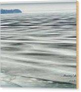 Thawing Lake Wood Print
