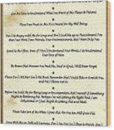 The 10 Commandments  For Pets  Antique Marble Wood Print