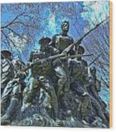 The 107th Infantry Memorial Sculpture Wood Print