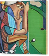 The 18th Hole Wood Print by Anthony Falbo