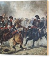 The 8th Napoleonic Cavalry Regiment Charging Into Battle  Wood Print