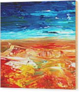 The Abstract Rainbow Beach Series II Wood Print