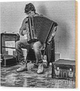 The Accordion Wood Print
