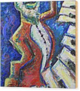 The Acid Jazz Jam Piano Wood Print