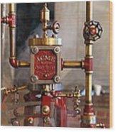The Acme Steam Engine Wood Print