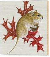 The Acorn Mouse Wood Print