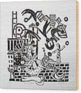 The Acrobats Wood Print by Barbara Sala