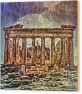 The Acropolis Of Athens Wood Print