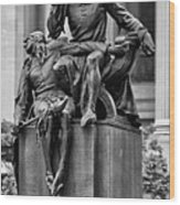 The Actor Statue Philadelphia Wood Print