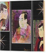 The Actors Sawamura-otani Oniji And Ichikawa Yaozo Wood Print