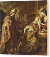 The Adoration Of The Magi Wood Print by Orazio de Ferrari