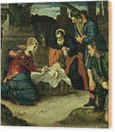 The Adoration Of The Shepherds, 1540s Wood Print