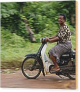The African Woman Wood Print