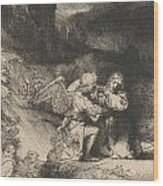 The Agony In The Garden Wood Print by Rembrandt