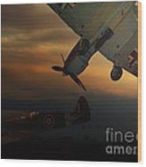 The Air Battle Of Britain Wood Print
