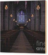 The Aisle Of Princeton Chapel Wood Print