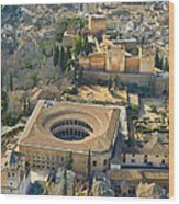 The Alhambra Aerial Wood Print