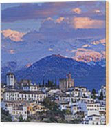The Alhambra And Granada Wood Print