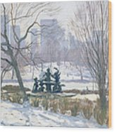 The Alice In Wonderland Statue, Central Park, New York Wood Print