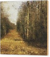 The Allee At Dawn Wood Print