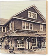 The Allenwood General Store Wood Print