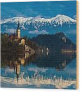 The Alps Bled Wood Print