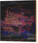 The Alton Belle In Neon Framed Wood Print
