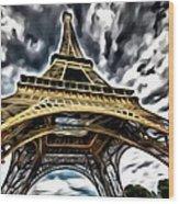 The Amazing Eiffel Wood Print
